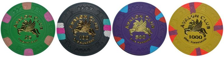 Avalon Club Poker Chips
