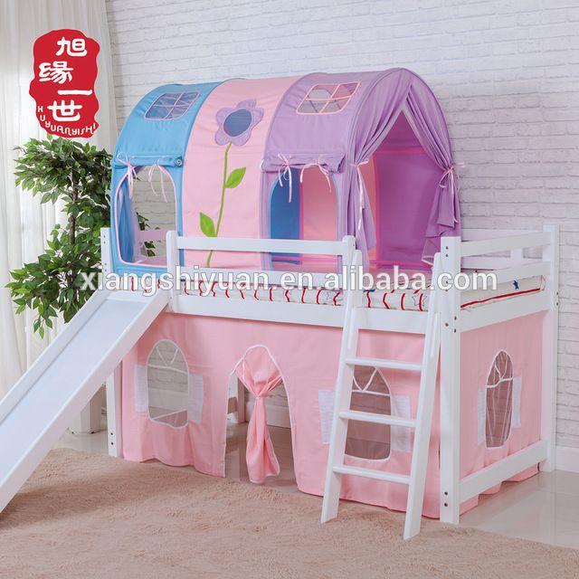 Source Kids Furniture Pink Color Princess Castle Loft Bunk Bed