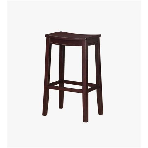 Aubree Wooden Bar Saddle Stool Bar Stool Espresso Linon Adult