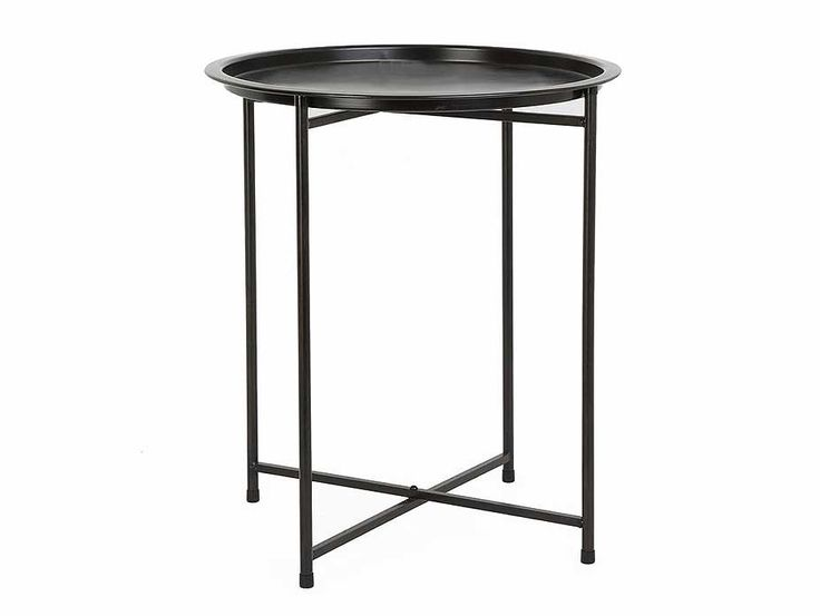 Round Tray Table - would make the perfect bedside table.