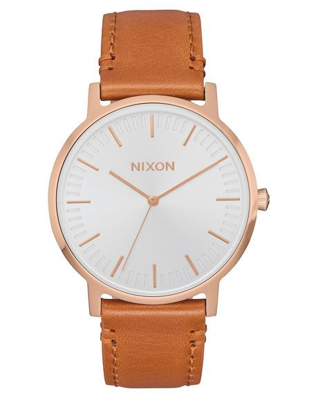 3cfad87564f8b0 The Porter Leather Watch in 2019 | clothes | Rose gold watches, Surf ...