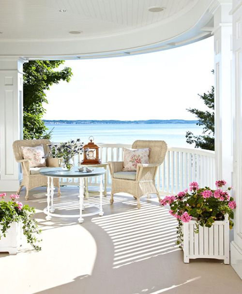 lovely porch with a wonderful view - the little book of secrets...