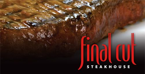 What a deal!  Final Cut Steakhouse Hollywood Casino at Kansas Speedway wants to share its passion for steaks with you at a fabulous price.  On Thursdays during August enjoy a 14 ounce KC Strip, Caesar salad, loaded baked potato and fresh baked brioche for only $19.99.  And to top it off, select bottles of wine are half-price on Thursdays. 913-287-9761 or http://kcrestaurantguide.com/html/restaurant=684