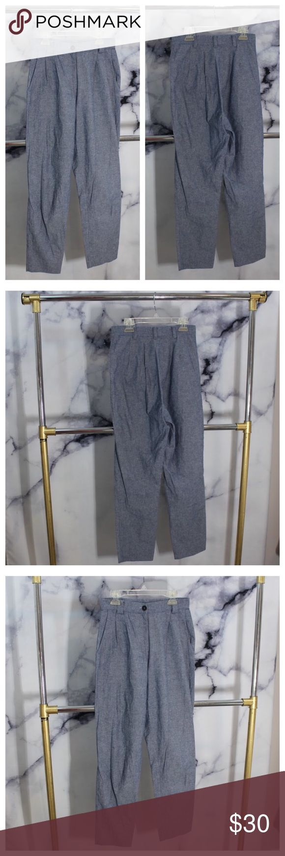 American Apparel High Waisted Blue Trouser Pant Perfect 10/10 condition! Beautiful Heathered blue comfortable Trouser Pant. Dress up or down! Breathable fabric. Size XS American Apparel Pants Skinny