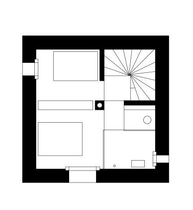 Mountain Cabin,Floor Plan