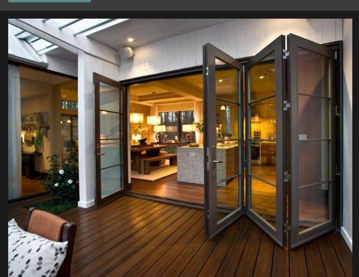 sliding doors are a great way to bring the outdoors in.