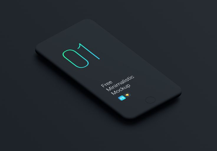 A minimalistic free smartphones mockups so you can showcase your app and web des…