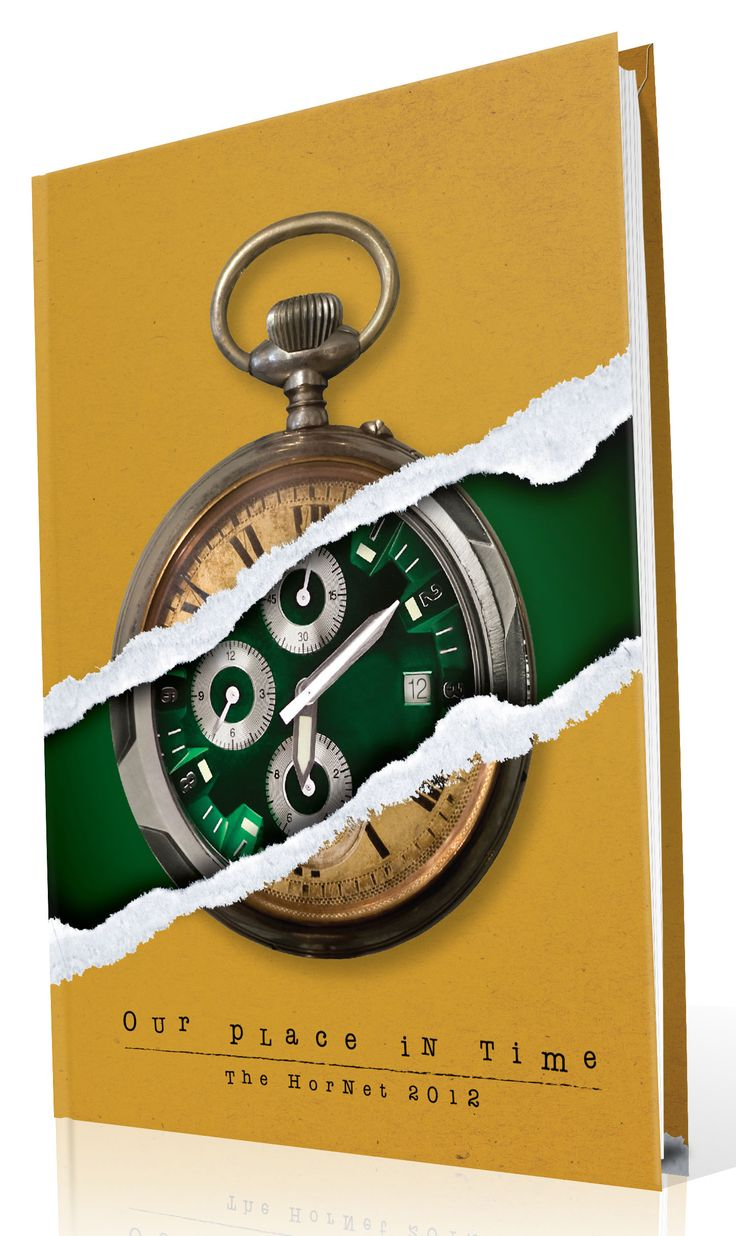 """Yearbook Cover - Huntsville High School - """"Our Place In Time"""" Theme - Time, Clocks, Watch, Timepiece, Hourglass, Ripped, Reveal, Old & New, Yearbook Ideas, Yearbook Idea, Yearbook Cover Idea, Book Cover Idea, Yearbook Theme, Yearbook Theme Ideas"""