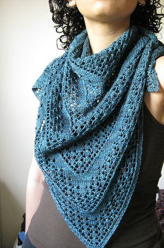 Onerva. I'm pinning this to say that (while the shawl is really beautiful) her description of the process is too funny and MUST be read by any knitter who's been frustrated in attempts to do whatever knitters do. I laughed out loud. If you're not looking for laughs, then this might not be the one for you! If you need a good laugh, go NOW.