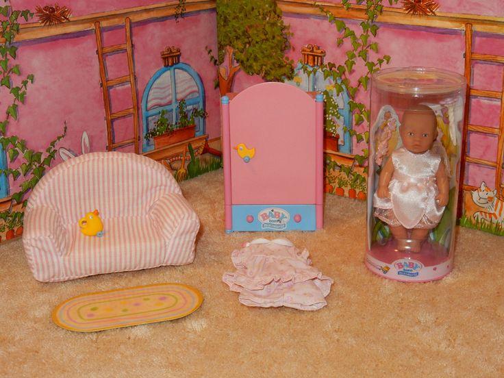 Perfect  Zapf Mini Baby Born Puppe Fee Schrank Couch Teppich