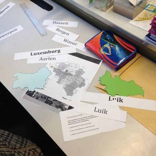 Een leuke manier om de leerlingen te laten kennismaken met de 10 provincies van België.