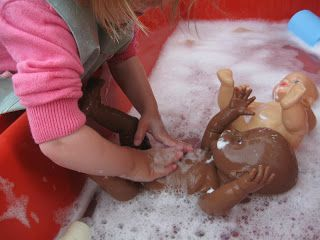 Bathing Babies and Brushing Teeth!   Pre-school Play