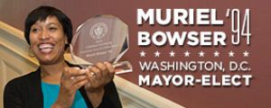 Congratulations Muriel Bowser Class of '94 for Washington D.C. mayoral elections