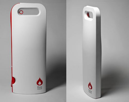 Act is a brand new and intelligent fire extinguisher, it connects to a wireless fire alarm system and alerts with sound and light when the alarm is triggered.