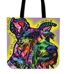 """Schnauzer Tote Bags $29.99- $12.95SchnauzerTote BagsAre you a SchnauzerOwner who loves their Dog? Then these custom designed Premium Linen Tote Bagsare a MUST HAVE! Our Premium Line Tote Bags are hand sewn using durable, yet lightweight poly cotton fabric. Each bag features a double sided print and is finished with a sturdy 1"""" wide strap for comfortably carrying over the shoulder. Each tote bagmeasures 17.7""""x17.7"""" and you can get them NOW, but only for a limited time!We ship with a…"""