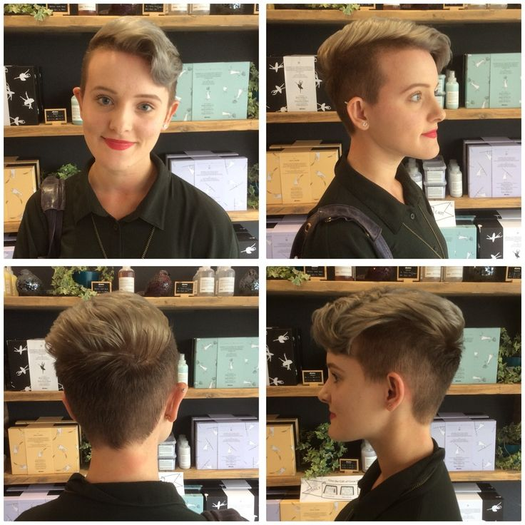 Beautiful silver toned hair and pixie cut on our lovely client Beth, by Jenna! #sdhair #samueldavidhairdressing #silverhair #pixiecut