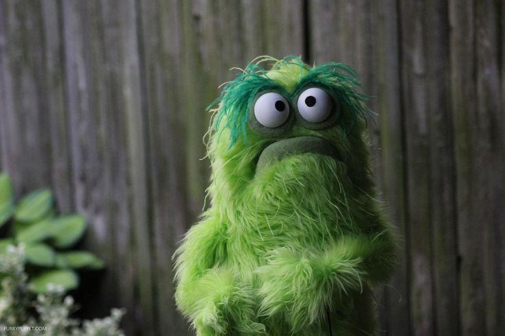 little green monster puppet