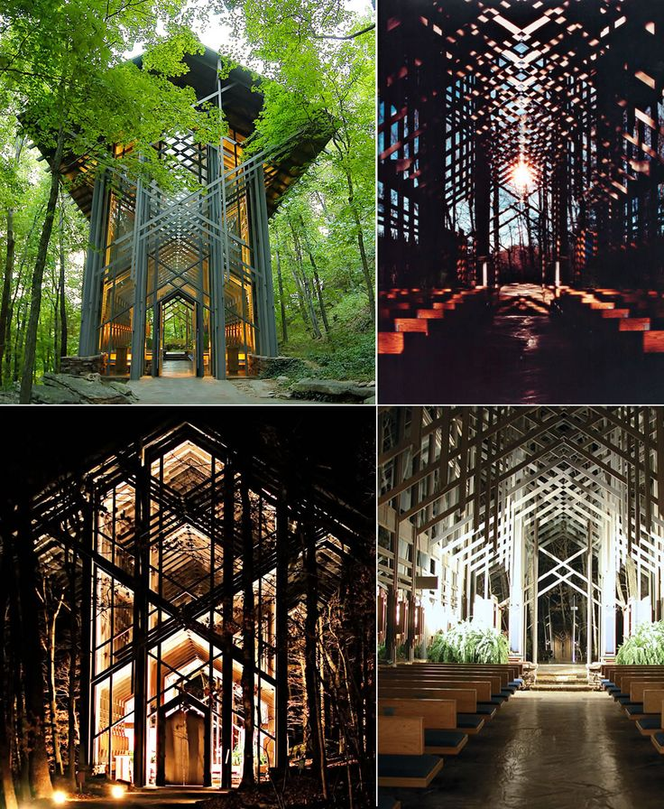 according to buzzfeed thorncrown chapel in eureka springs arkansas is one of the 22