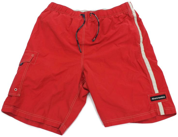 Abercrombie & Fitch Bathing Suit Mens Size Large Mesh Lined Cargo Swim Trunks Sz #AbercrombieFitch #Trunks