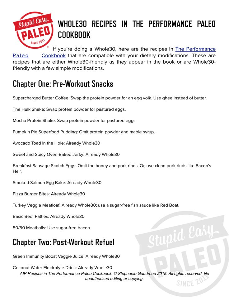 Whole30 Recipes in The Performance Paleo Cookbook...free printable PDF! Click here to get it >> http://stupideasypaleo.com/2015/01/07/performance-paleo-cookbook-plus-two-new-resources/ #whole30 #paleo #realfood