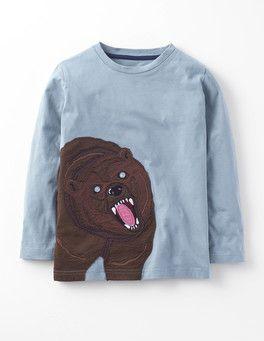 Dried Sage/Bear Big Creature T-Shirt Boden