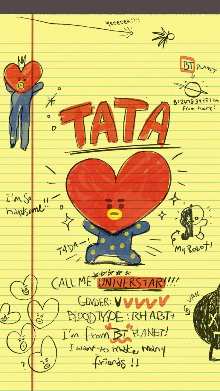 Bts Iphone Wallpaper Bt21 Wallpaper Bt21 Wallpaper Chimmy Tata Cooky Rj