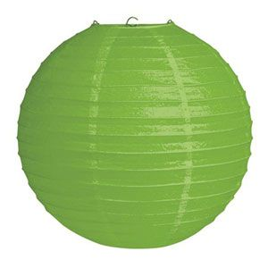 20041045 - Jungle Buddies Lantern Lantern Citrus Green Solid Colour (30cm) Round. Please note: approx. 14 day delivery time.