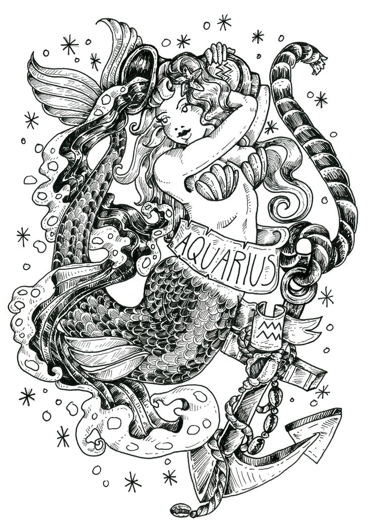 картинки на тату знаки зодиака водолей оснащёна