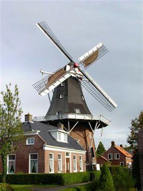 Flour and grinding mill Hollands Welvaart, Mensingeweer, the Netherlands