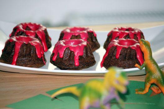 Mini- Vulkane für den Dino Geburtstag
