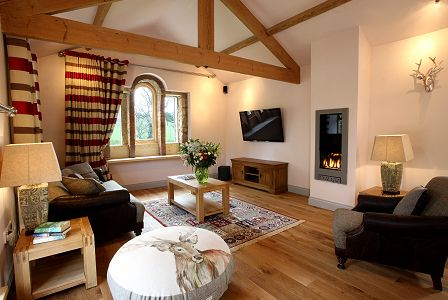The Retreat, Cheviot Holiday Cottages, Northumberland.  Some have a big jacuzzi right in the living room.  For the New Year ?