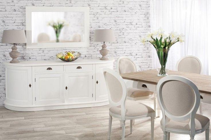 Komoda Brighton 4 drzwi + 2 szuflady white 210x50x86cm #komoda #meble #furniture #design #modern #livingroom #ideas #inspiration