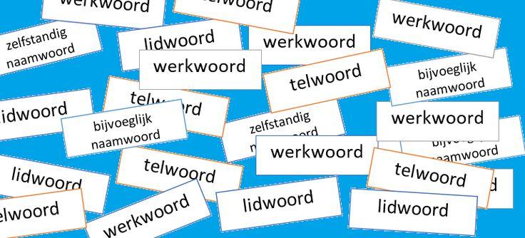 Woordsoorten oefenen