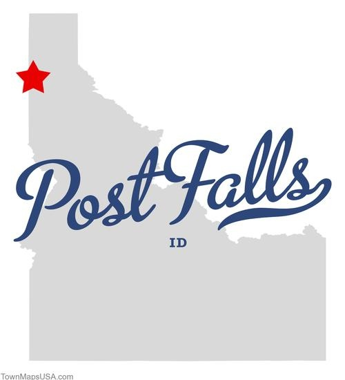 Map of Post Falls Idaho ID