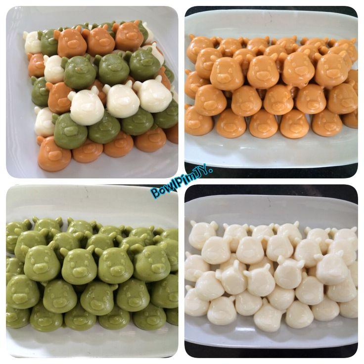 Milk Jelly //  Matcha Jelly // Thai Tea Jelly วุ้นพี่หมี รสชาตินมสด ชาเขียว ชาไทย