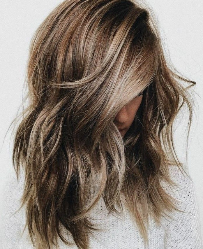 Light Brown Balayage Brunette Hairstyles, Lob Short Hair