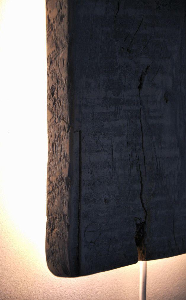 Lampa ścienna - stara deska biała - OLDTREE - Kinkiety