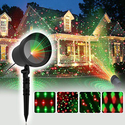COOWOOO Projecteur Led éclairage de Noël pour l'intérieur et l'extérieur rouge-vert avec 8 motifs #COOWOOO #Projecteur #éclairage #Noël #pour #l'intérieur #l'extérieur #rouge #vert #avec #motifs