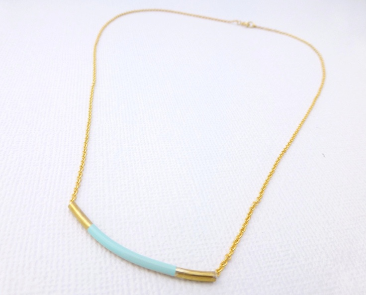 Mint Gold Bar Necklace available at Whimsy & Grace NZ