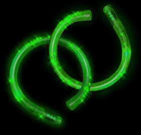 LED Fiber Optic Green Bracelet