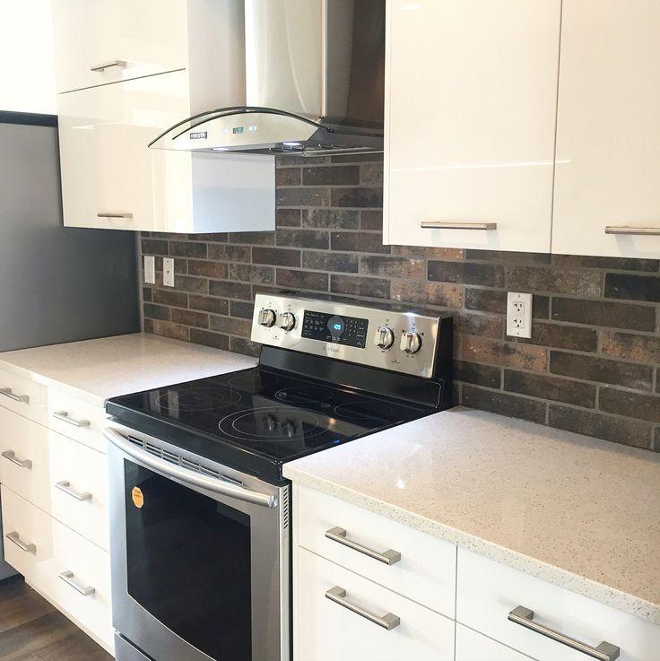 Backsplashes With White Cabinets: Best 25+ Brick Backsplash White Cabinets Ideas On
