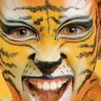 Maquillaje de carnaval para niños - Tigre -