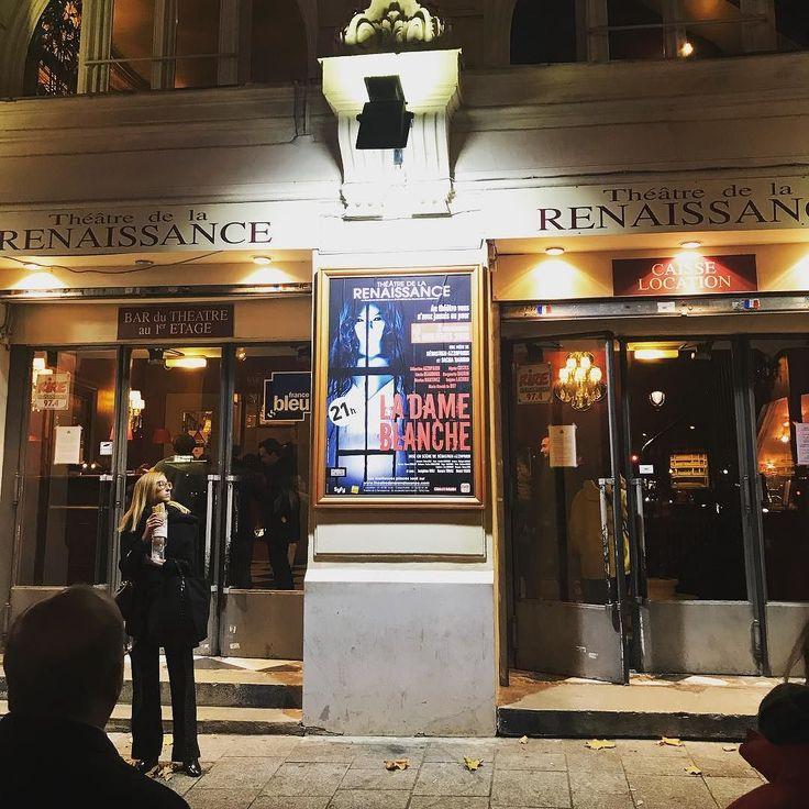 Soirée théâtre #théâtre #paris #renaissance #theatredelarenaissance #ladameblanche