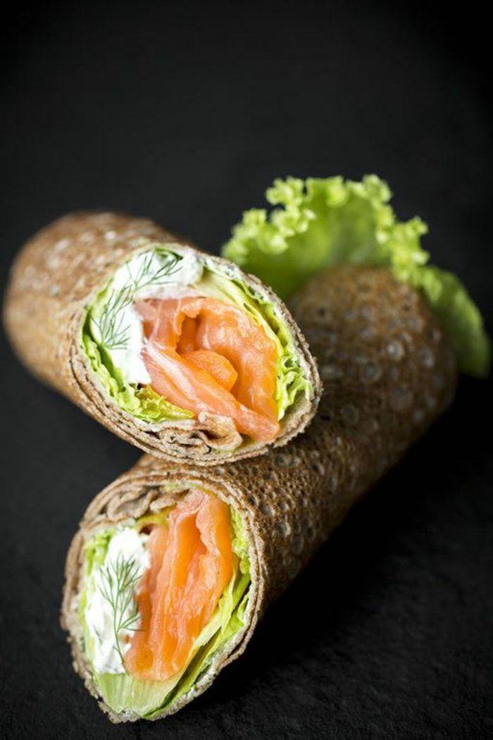 Recette légère idée dîner léger santé - wrap avec saumon