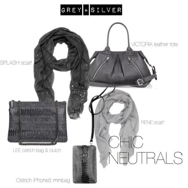 Grey + Silver by naledi-copenhagen on Polyvore