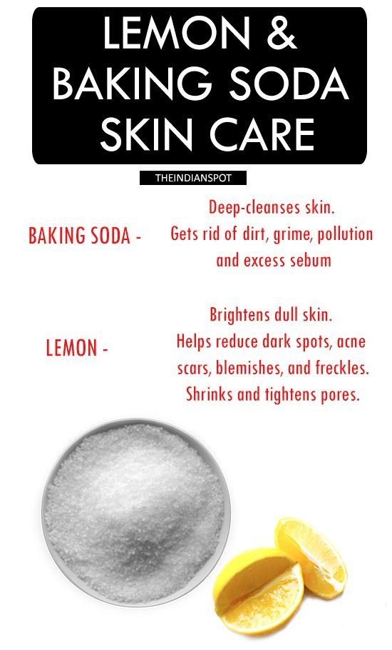 LEMON AND BAKING SODA SKIN CARE RECIPE AND BENEFITS