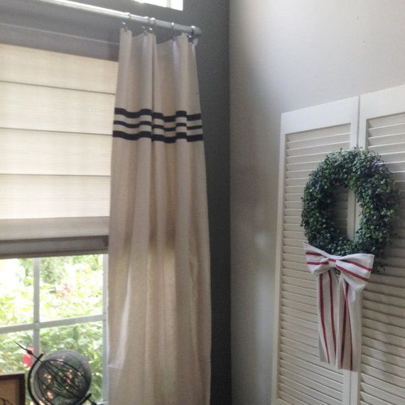 Curtains Grain Sack Striped Farmhouse Curtain by RMichaelCreations