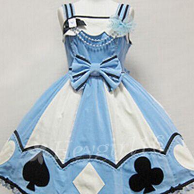 Alice in Wonderland Sweet 16 Dress | Cute alice wonderland poker sweet lolita dress alice cosplay costume