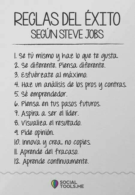 Reglas del éxito según Steve Jobs