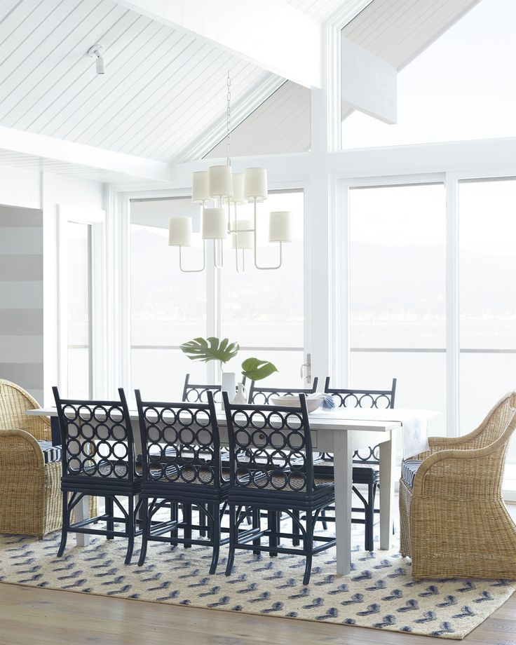 Dreaming of dinner parties by the coast larchmont dining chair via serena lily